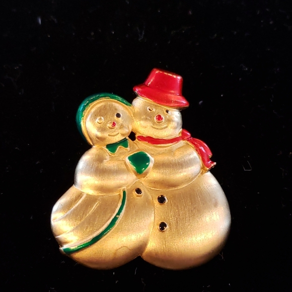 Rose gold Snowman and girl By JJ